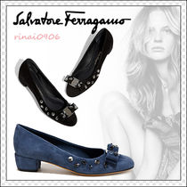 Salvatore Ferragamo Suede Plain With Jewels Elegant Style