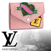 Louis Vuitton EPI Heart Studded Leather Folding Wallets