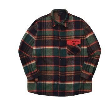 WV PROJECT Shirts Glen Patterns Unisex Wool Street Style Long Sleeves 14