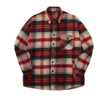 WV PROJECT Shirts Glen Patterns Unisex Wool Street Style Long Sleeves 16