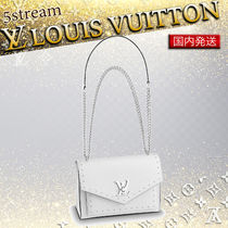 Louis Vuitton Calfskin Studded Plain Shoulder Bags