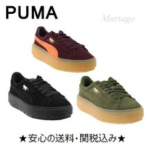 PUMA Lace-up Casual Style Suede Street Style Plain