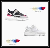 BUSCEMI Rubber Sole Casual Style Blended Fabrics Street Style Plain