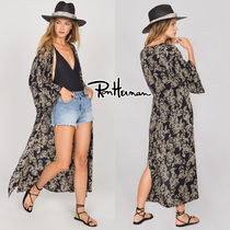 Ron Herman Paisley Casual Style Long Sleeves Long Handmade Gowns