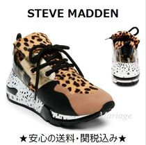 Steve Madden Leopard Patterns Casual Style Street Style Low-Top Sneakers
