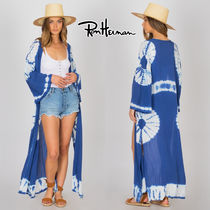 Ron Herman Casual Style Tie-dye Long Sleeves Long Handmade Gowns