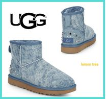 UGG Australia CLASSIC MINI Casual Style Studded Ankle & Booties Boots
