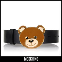 Moschino Casual Style Leather Belts