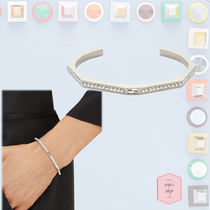 FENDI BAGUETTE Bangles Blended Fabrics Party Style With Jewels Bracelets