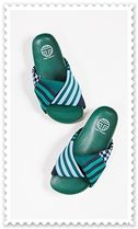 TORY SPORT Stripes Other Plaid Patterns Open Toe Rubber Sole Unisex