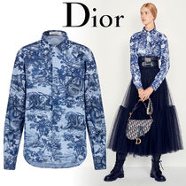 Christian Dior Street Style Long Sleeves Other Animal Patterns Cotton