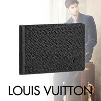 Louis Vuitton TAIGA Blended Fabrics Street Style Plain Leather With Jewels