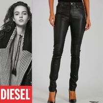 DIESEL Leather Leather & Faux Leather Pants