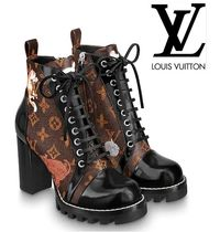 Louis Vuitton Leather High Heel Boots