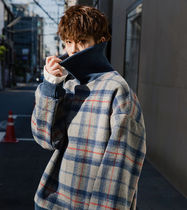 Pullovers Other Check Patterns Street Style Long Sleeves