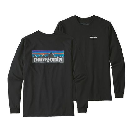 Patagonia Long Sleeve Street Style Long Sleeves Plain Cotton Long Sleeve T-Shirts 2