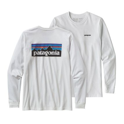 Patagonia Long Sleeve Street Style Long Sleeves Plain Cotton Long Sleeve T-Shirts 3