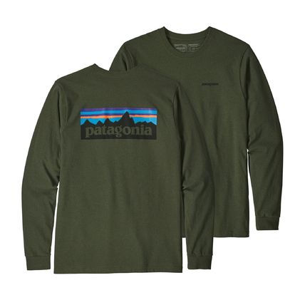 Patagonia Long Sleeve Street Style Long Sleeves Plain Cotton Long Sleeve T-Shirts 5