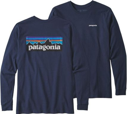 Patagonia Long Sleeve Street Style Long Sleeves Plain Cotton Long Sleeve T-Shirts 6