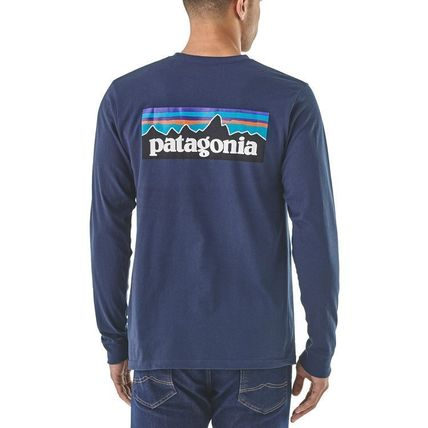 Patagonia Long Sleeve Street Style Long Sleeves Plain Cotton Long Sleeve T-Shirts 11