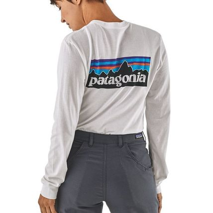 Patagonia Long Sleeve Street Style Long Sleeves Plain Cotton Long Sleeve T-Shirts 12