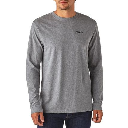 Patagonia Long Sleeve Street Style Long Sleeves Plain Cotton Long Sleeve T-Shirts 14