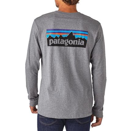 Patagonia Long Sleeve Street Style Long Sleeves Plain Cotton Long Sleeve T-Shirts 15