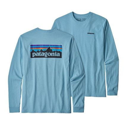 Patagonia Long Sleeve Street Style Long Sleeves Plain Cotton Long Sleeve T-Shirts 8