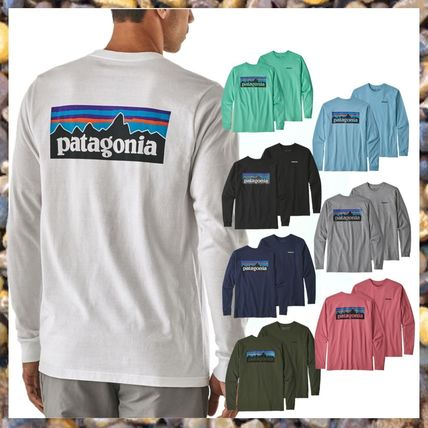 Patagonia Long Sleeve Street Style Long Sleeves Plain Cotton Long Sleeve T-Shirts