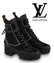 Louis Vuitton Leather Mid Heel Boots