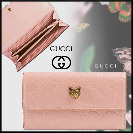 innovative design 72cd3 fab4e GUCCI 2019 Cruise Monogram Leather With Jewels Long Wallets (548055 0G6FT  5877)