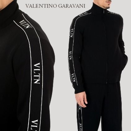 VALENTINO Sweatshirts Long Sleeves Logos on the Sleeves Sweatshirts