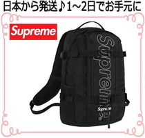 Supreme Unisex Nylon A4 Plain Backpacks
