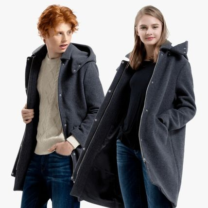 Unisex Wool Street Style Long Chester Coats