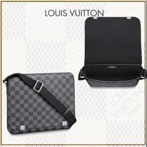 Louis Vuitton DAMIER GRAPHITE Bi-color Leather Messenger & Shoulder Bags