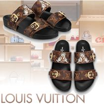 Louis Vuitton MONOGRAM Monogram Open Toe Casual Style Leather Sandals