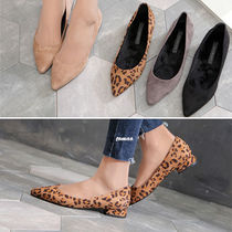 Leopard Patterns Block Heels Block Heel Pumps & Mules