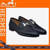 HERMES Loafers Plain Leather Loafers & Slip-ons