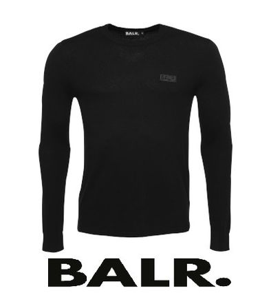 BALR Knits & Sweaters Crew Neck Pullovers Wool Street Style Long Sleeves Plain