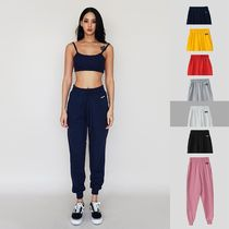 Casual Style Sweat Plain Long Sweatpants