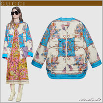 GUCCI Flower Patterns Tassel Medium Oversized Elegant Style
