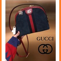 GUCCI Stripes Unisex Street Style 2WAY Bags