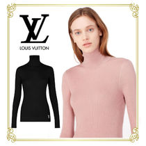 Louis Vuitton Casual Style Wool Long Sleeves Plain Dresses