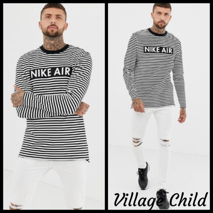 Nike Long Sleeve Crew Neck Stripes Long Sleeves Long Sleeve T-Shirts