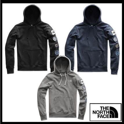 THE NORTH FACE Hoodies Street Style Long Sleeves Cotton Logos on the Sleeves