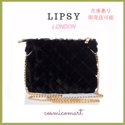 Faux Fur 2WAY Chain Party Style Crossbody Party Bags