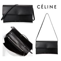 CELINE Folded Clutch Plain Elegant Style Clutches