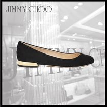 Jimmy Choo Round Toe Suede Pumps & Mules