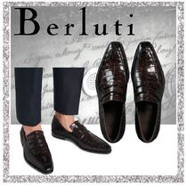 Berluti Moccasin Other Animal Patterns Leather V Tips