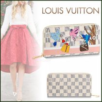 Louis Vuitton DAMIER AZUR Other Check Patterns Canvas Blended Fabrics